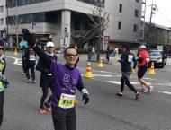 京都マラソン、自己新記録4時間44分で力走!